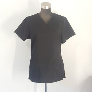 Scrubstar Black Scrub Top Size Small